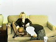 Blonde white wife special lingerie best hosiery black stallion filming
