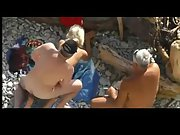 Public sex blowjob doggystyle blonde nudist beach