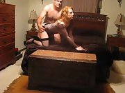 Sexy redhead wife hubby love sexy body red
