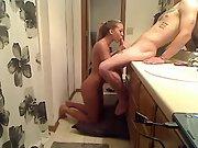 Couple video fucking amateur couple video bathroom amateur