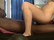 Interracial blonde amateur sex blowing black cock big