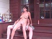 Public sex big tits brunette hardcore blowjob