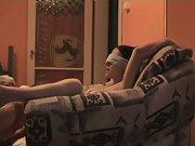 Kurva blindfolded wife viki living room